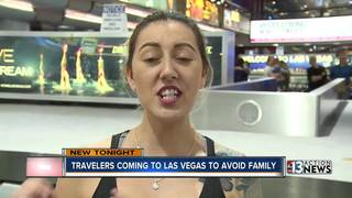 Travelers fly to Las Vegas to escape family