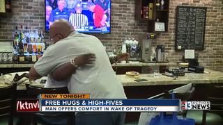 Man offers hugs to help heal in Las Vegas