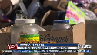 Neighbors disgusted by trashed home
