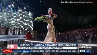 Miss Universe crowned in Las Vegas