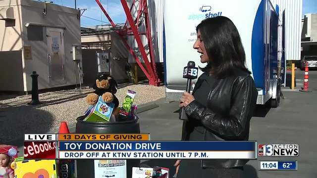 Dayna Roselli and toy donation drive
