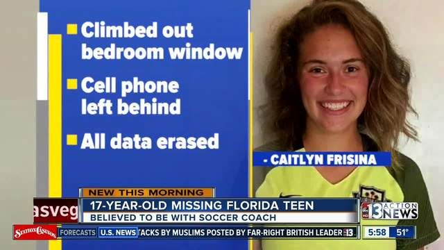 Deputies: Missing teen may be with soccer coach