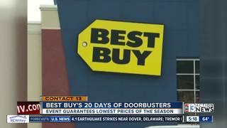 Best Buy offering 20 day of doorbusters in Decem