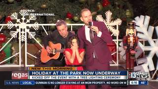 Holiday at The Park kicks off with ceremony