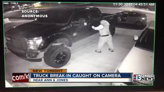 Man breaking into truck caught on camera