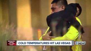 Bone chilling temperatures, wind hit Las Vegas