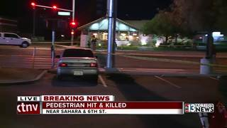 Pedestrian hit and killed near Sahara and 6th