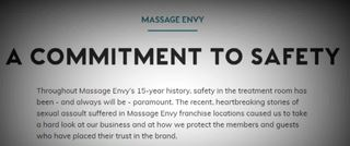 Massage Envy's plan to prevent sexual assault