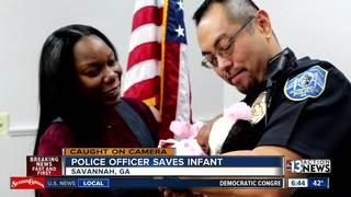 Body cam captures Georgia cop saving baby