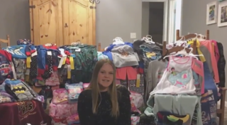 Student collects pajamas for kids in hospital
