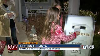 Neighborhood Santa Claus delivers gifts to kids