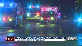 Man jumps, catches child escaping apartment fire