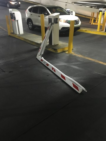Casino parking gate blamed for injury and damage