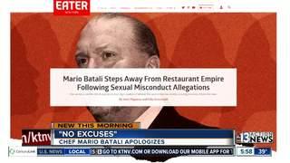 Chef Mario Batali apologizing for behavior