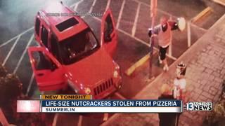 Life-size nutcrackers stolen from restaurant