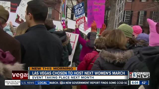 Las Vegas to host Women's March next month