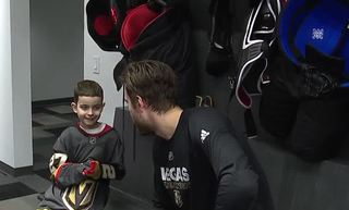 Boy with tumor joins Vegas Golden Knights