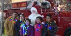 Santa helps grant sick girl's Disneyland wish