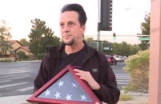 Man finds military burial flag on road