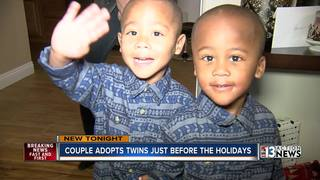 Family finalizes twins adoption before Christmas