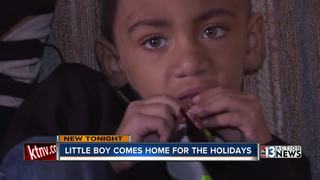 Boy battling leukemia home in time for holidays