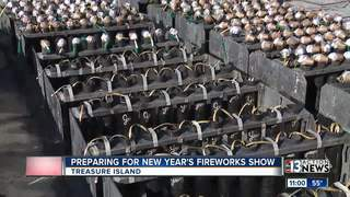 A look at preps for NYE's fireworks show