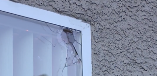Home damaged by falling New Year's bullet