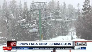 Storm brings snow to Mount Charleston