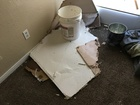 Leaky roofs, ceiling collapses after storm