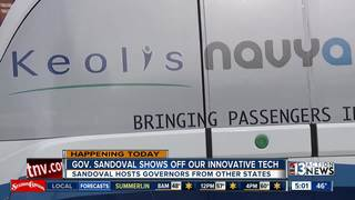 Governor shows off self-driving vehicles at CES