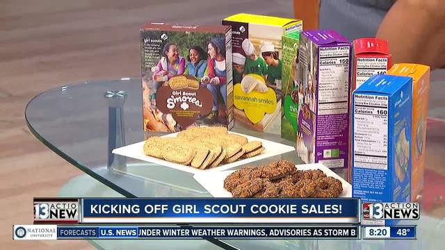 Girl Scouts host rally to kick off cookie sales