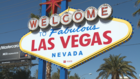Las Vegas welcome sign goes True Blue