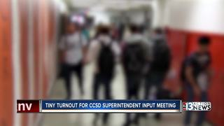 Low turnout at superintendent search meeting