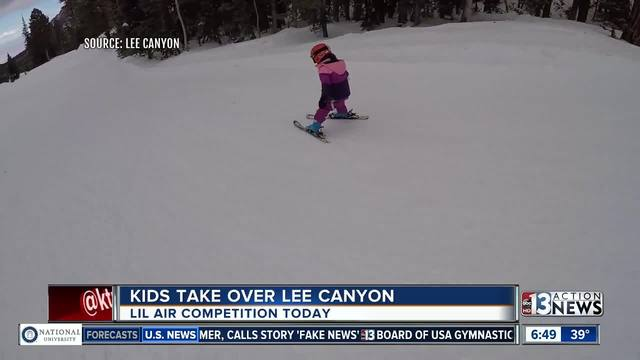 Kids take over Lee Canyon in Lil- Air Competition