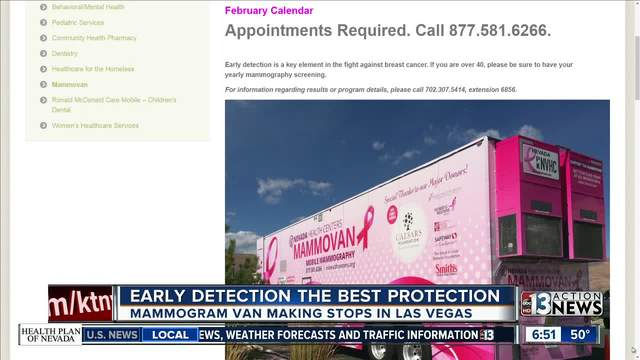Mammovan visits Southern Nevada to provide woman with mammograms