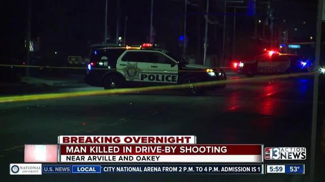 Las Vegas police: Man killed in drive-by shooting