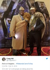 Black Panther fans go all out for opening night