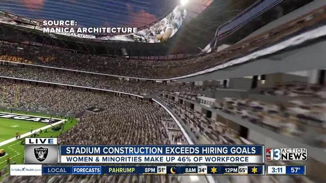 Stadium construction company meets hiring goals