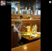 Man eats V-Day lunch across from wife's ashes