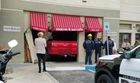 Truck crashes into Desert Shores restaurant