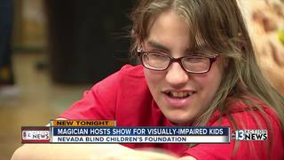 Magician dazzles visually-impaired kids