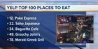 Local restaurants on 100 Places to Eat list