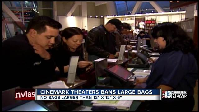 Cinemark bans large bags at theaters