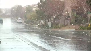 VIDEOS: Snow seen across Las Vegas valley