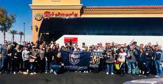 Golden Knights fans take charter bus to LA game