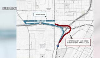 Project Neon MLK ramp closure March 13-16