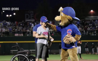 1 Oct. shooting survivor throws Cubs first pitch