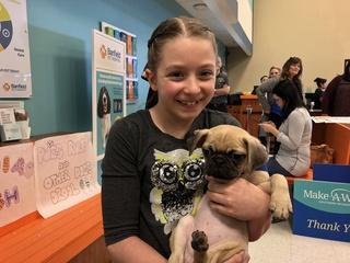 Girl battling brain tumor gets adorable puppy