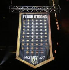 Vegas Golden Knights honor mass shooting victims
