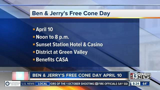 Free cones at Ben & Jerry's Tuesday - yes, Colorado Springs has one